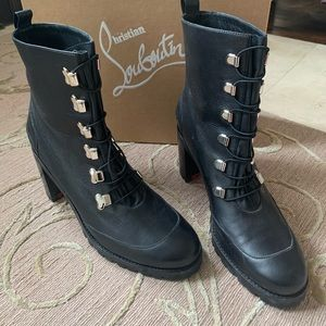 Christian Louboutin rubber soled leather boots